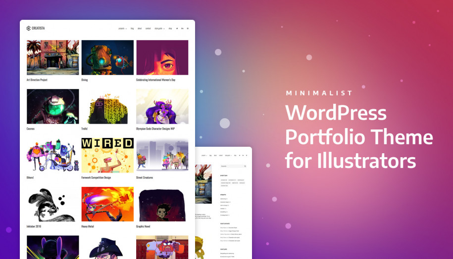 wordpress creative portfolio theme