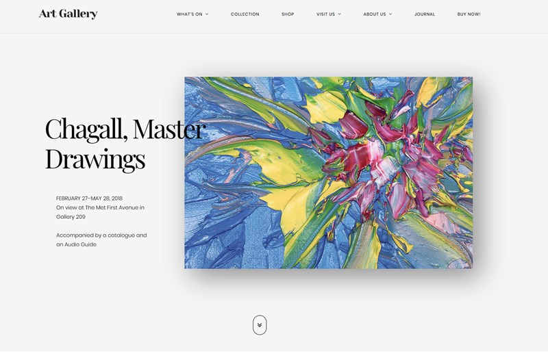 art gallery wp theme