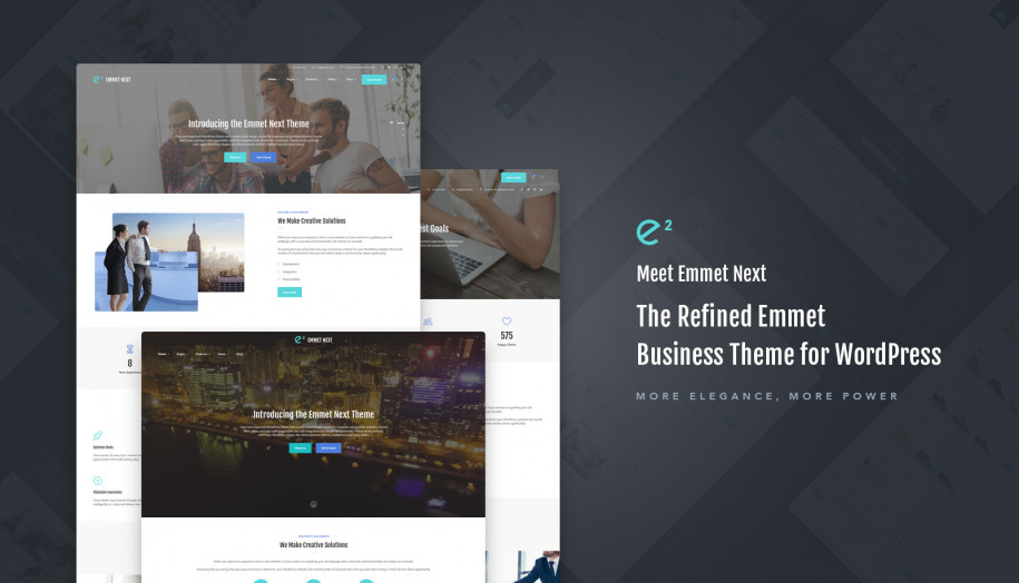 emmet next wordpress business theme for elementor