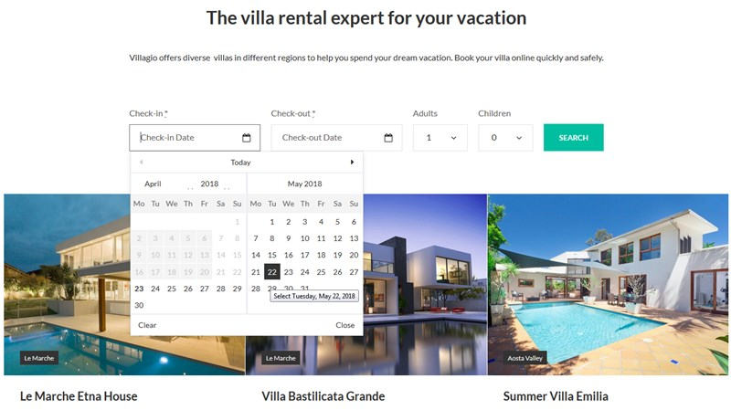wordpress vacation rental motopress hotel booking