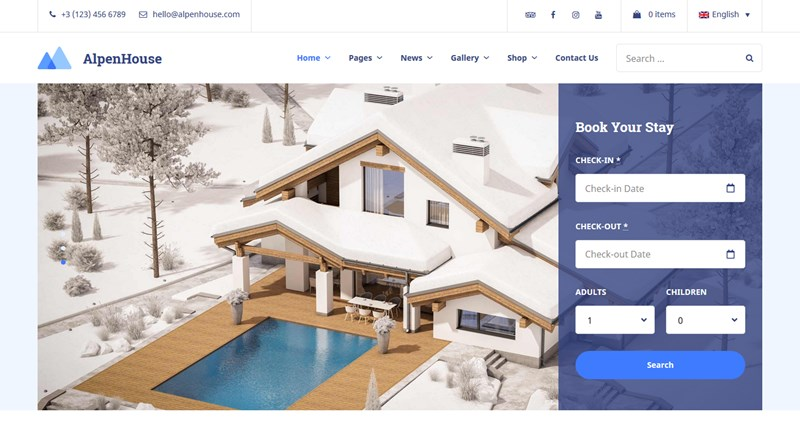 alpenhouse vacation rental wp theme home page 3