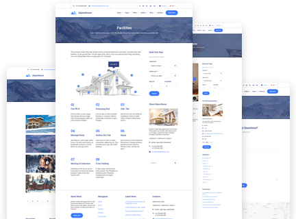 elementor wp theme for hotel