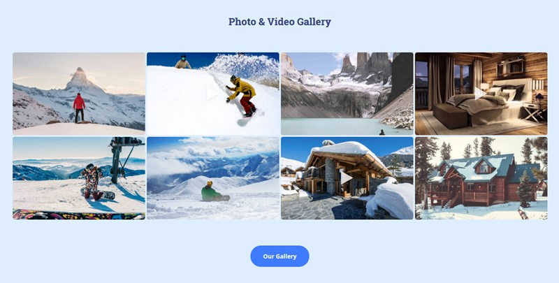photo and video gallery
