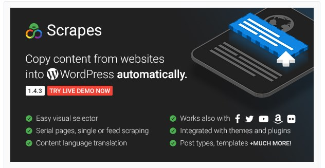 scrapes auto crawler wordpress plugin