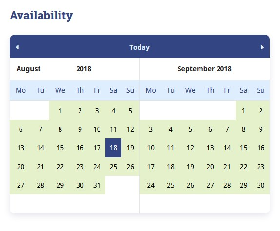 wp search availability calendar