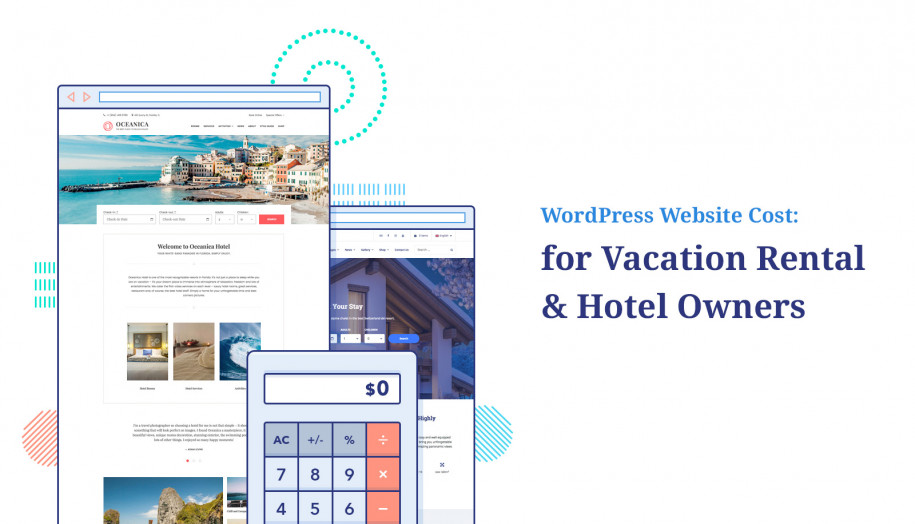 cost of vacation rental website