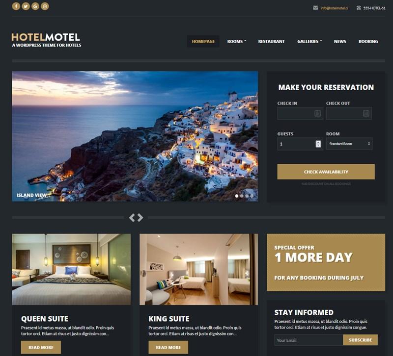HotelMotel wp theme