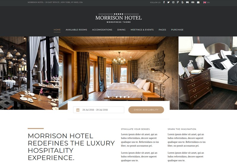 Morrison Hotel wordpress theme