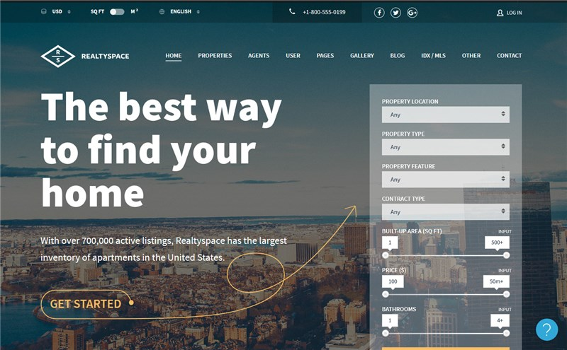 Realtyspace wp theme