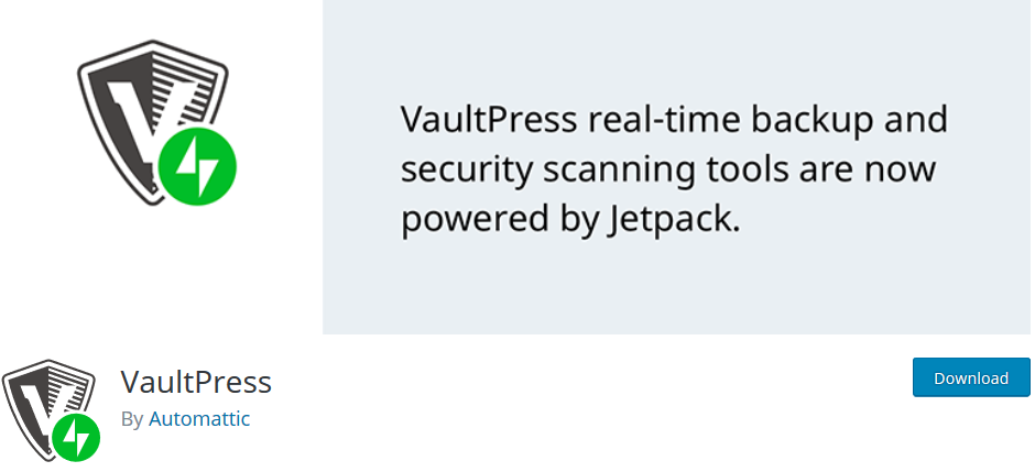 VaultPress wp backup plugin