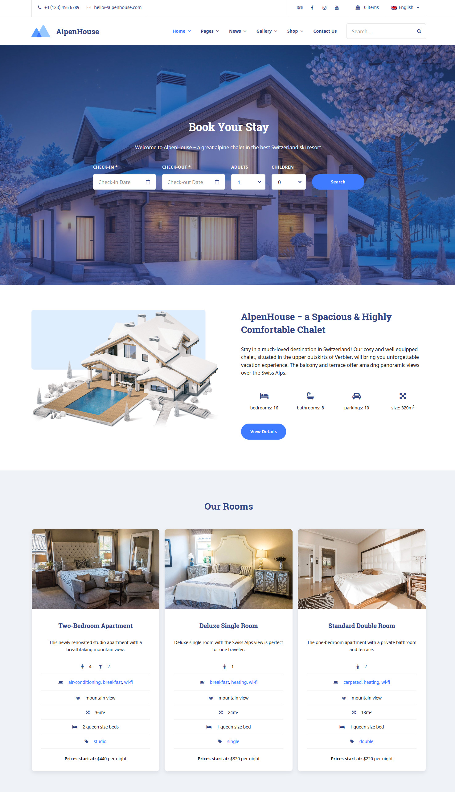 alpenhouse wp vacation rental theme