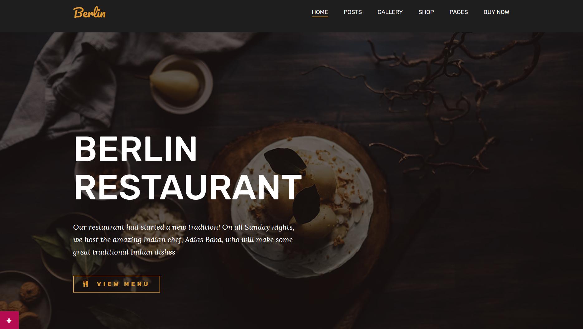berlin restaurant wp theme