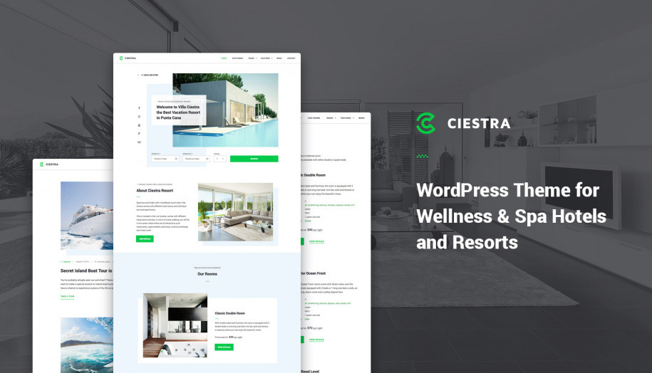ciestra resort wordpress theme