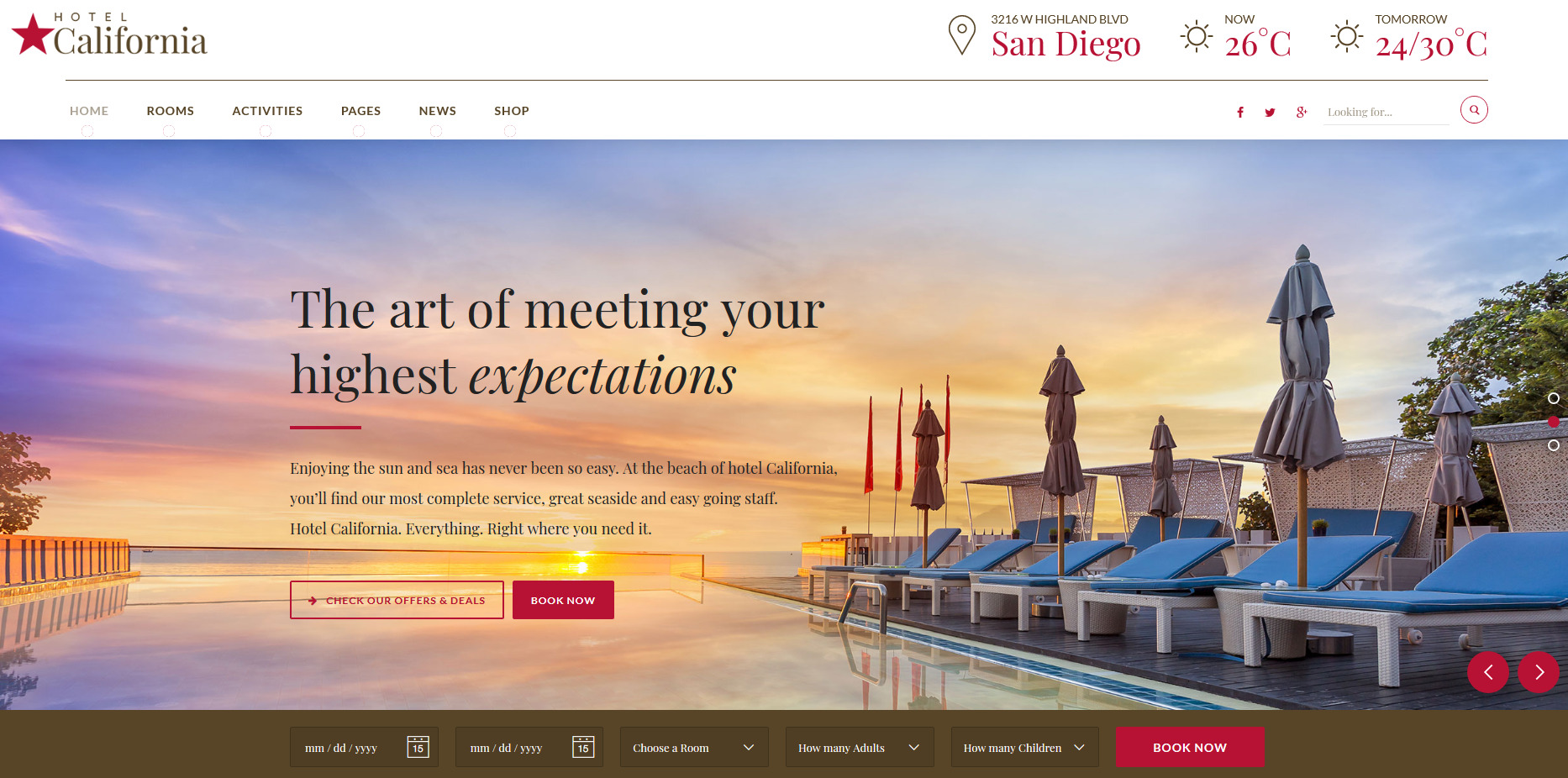 hotel california wp theme