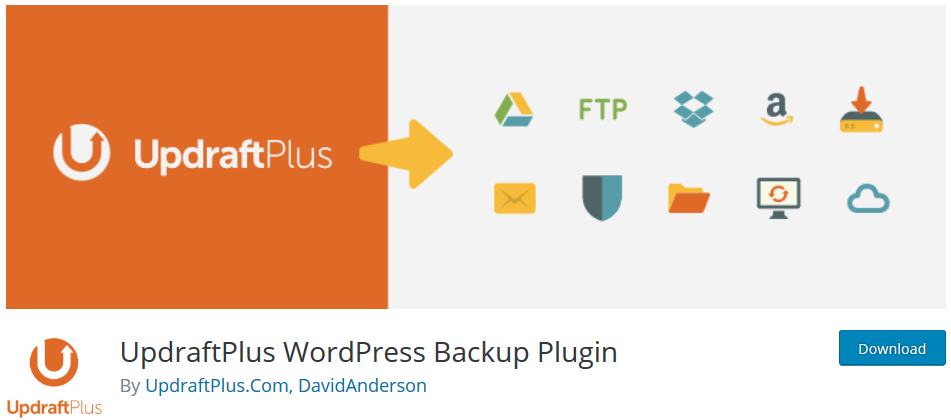 updruftplus how to back up wordpress website