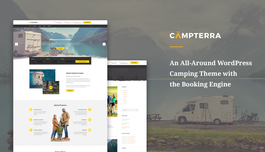 WordPress Camping Template