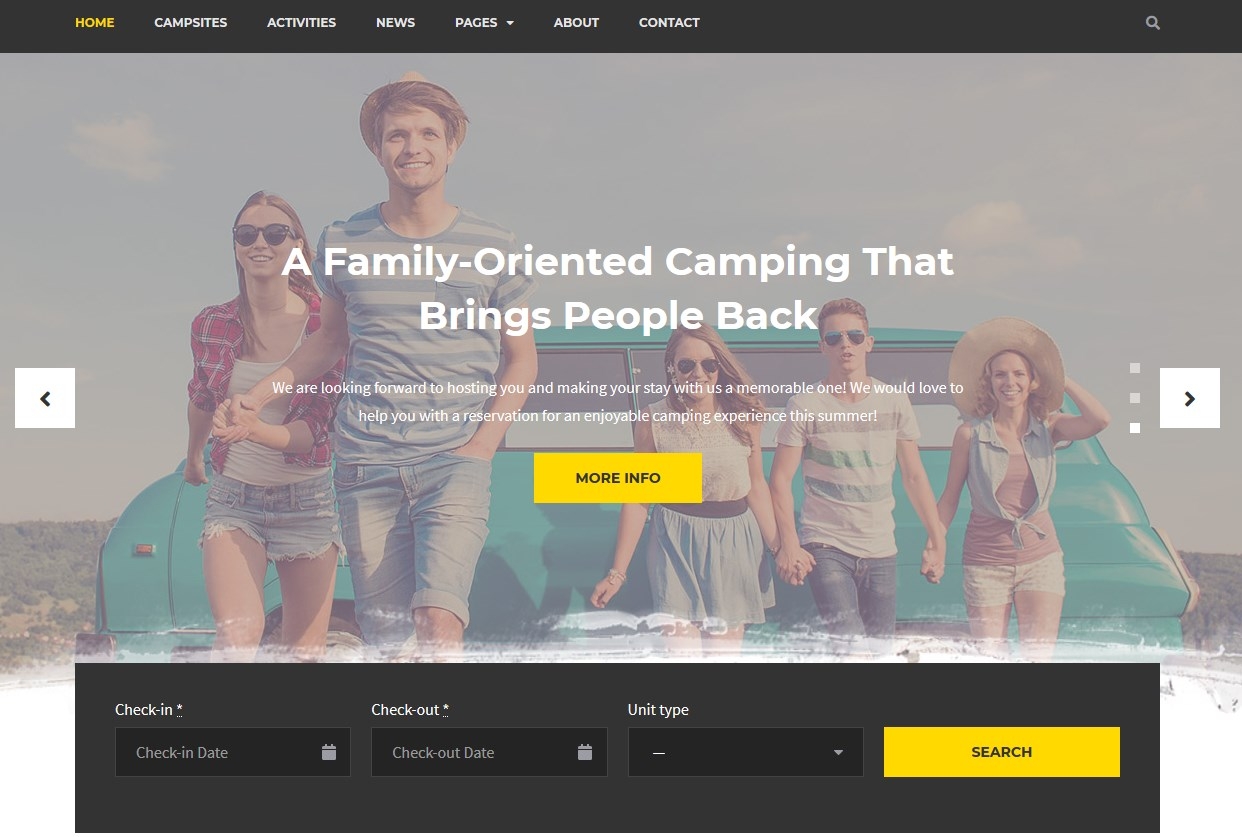 best camping wordpress theme