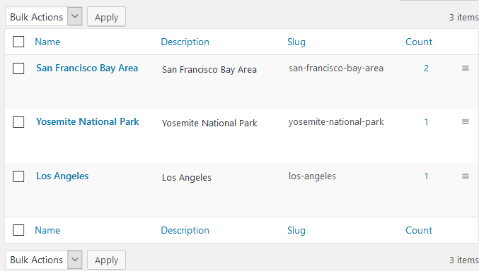 location attributes wp hotel bookings