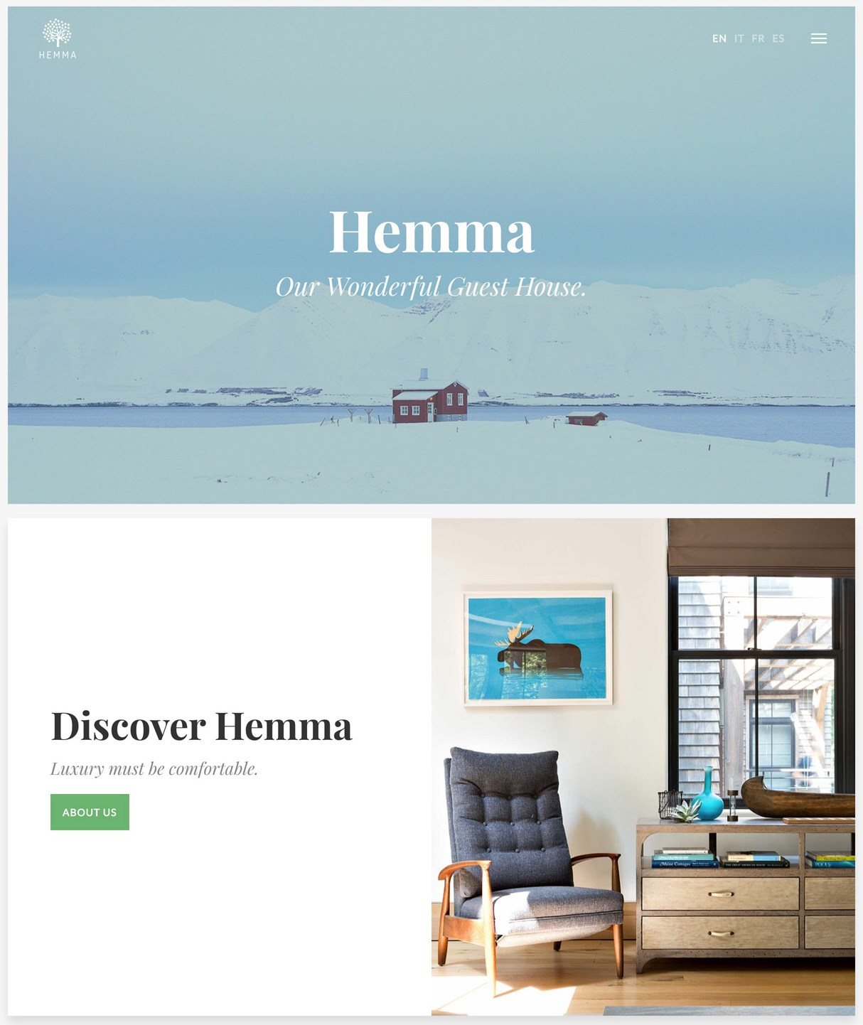 Hemma property rental wordpress theme