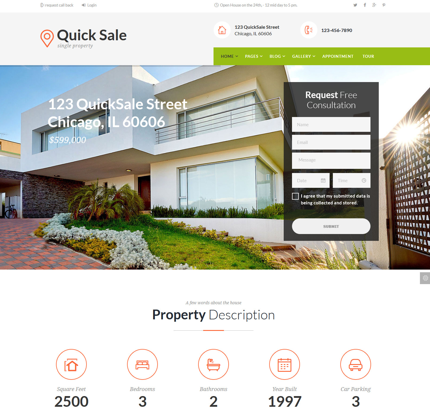 Quick Sale WP theme real estate