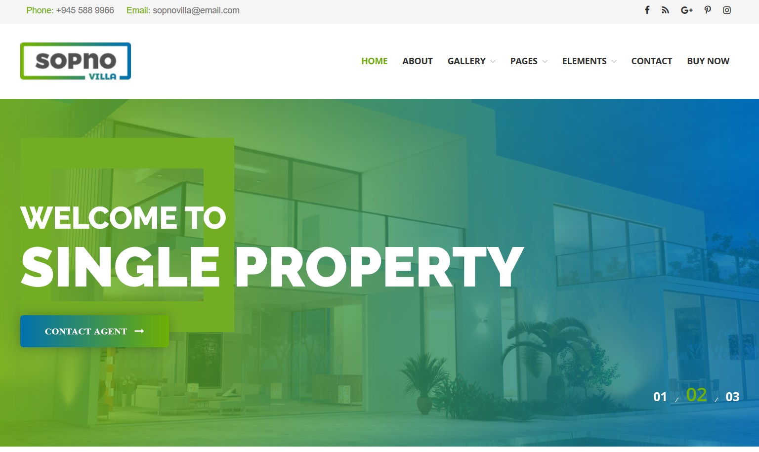 Sopnovilla single property theme