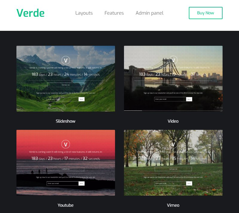 Verde WordPress coming soon plugin