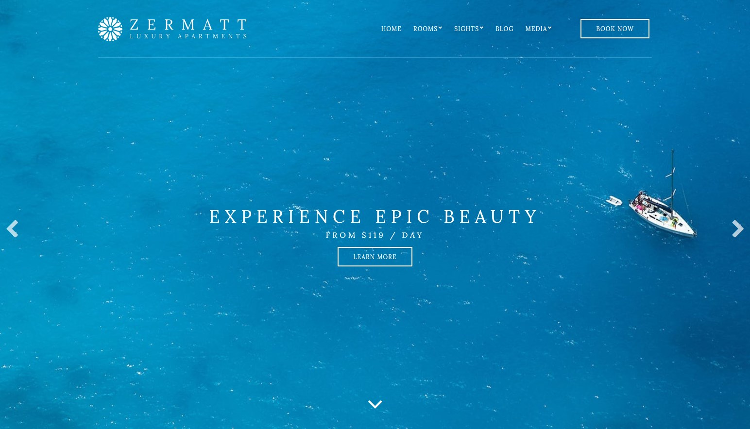 Zermatt single property wp theme