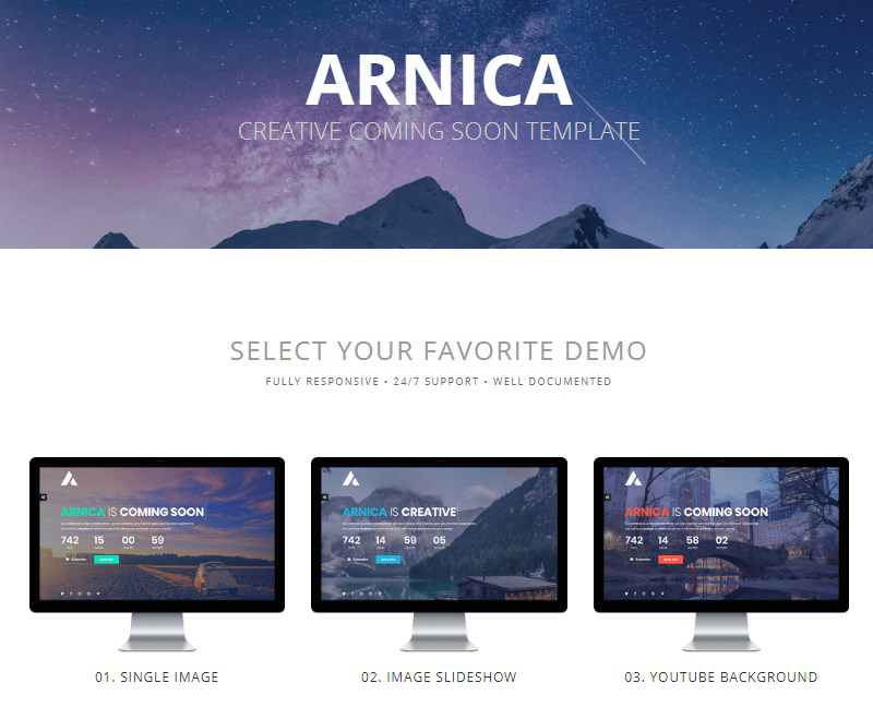 Arnica coming soon plugin for WordPress