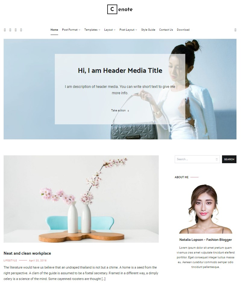 Cenote_free_WordPress_theme