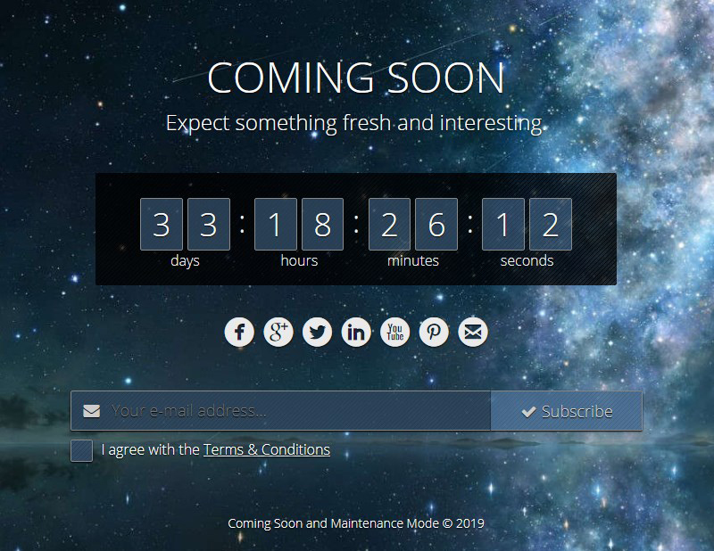 Coming Soon and Maintenance Mode plugin WordPress