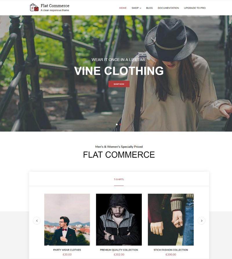 Flat_Commerce_WordPress_theme