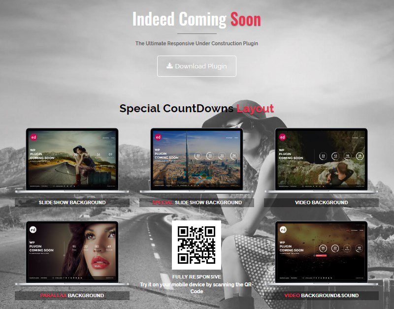 Indeed Coming Soon plugin WordPress