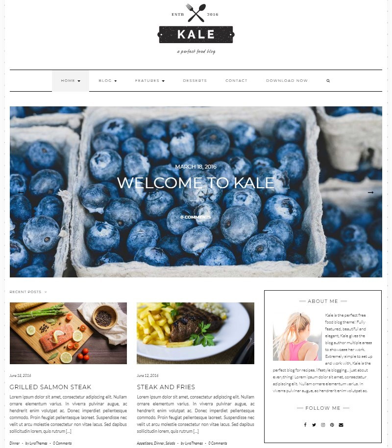 Kale_WordPress_theme