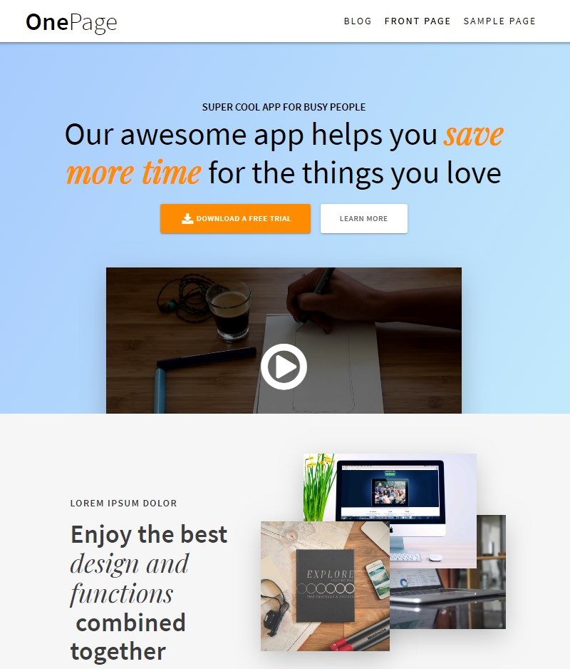 One_Page_Express_WP_theme