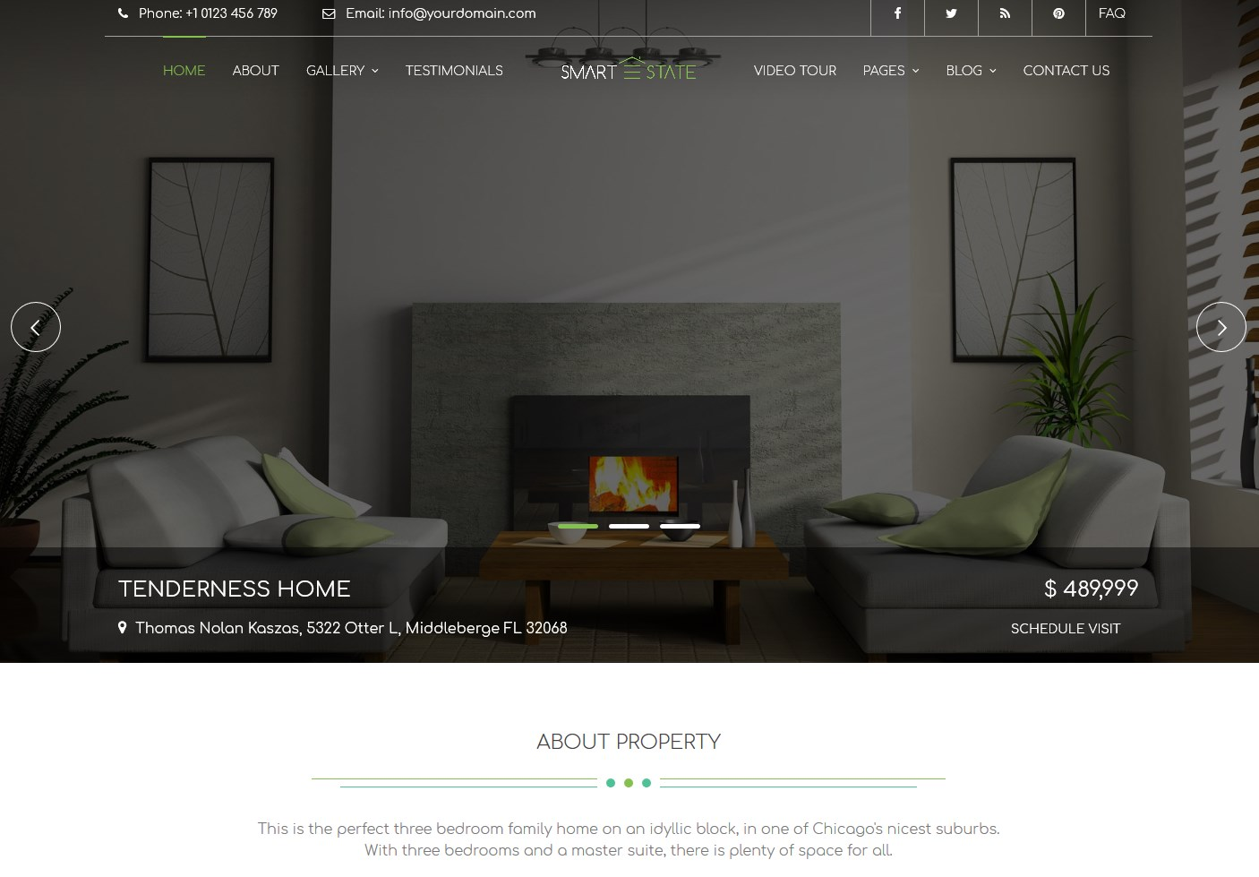 smart estate wordpress rental theme