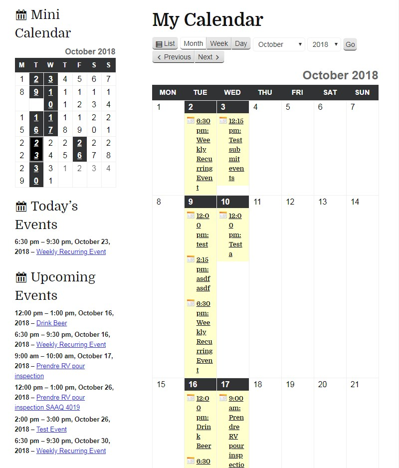 my_calendar_timetable_plugin_WordPress