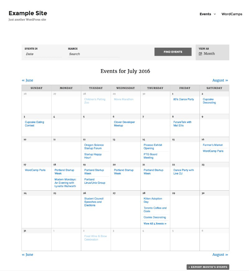 the_events_calendar_best_timetable_plugin_WordPress