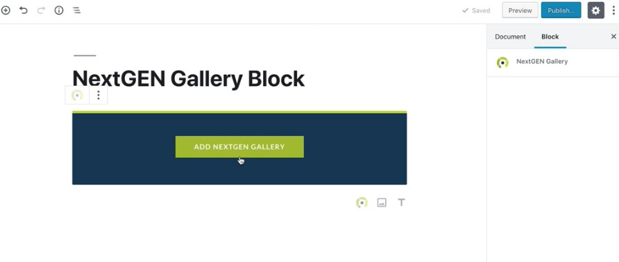 NextGEN Gallery Block for Gutenberg