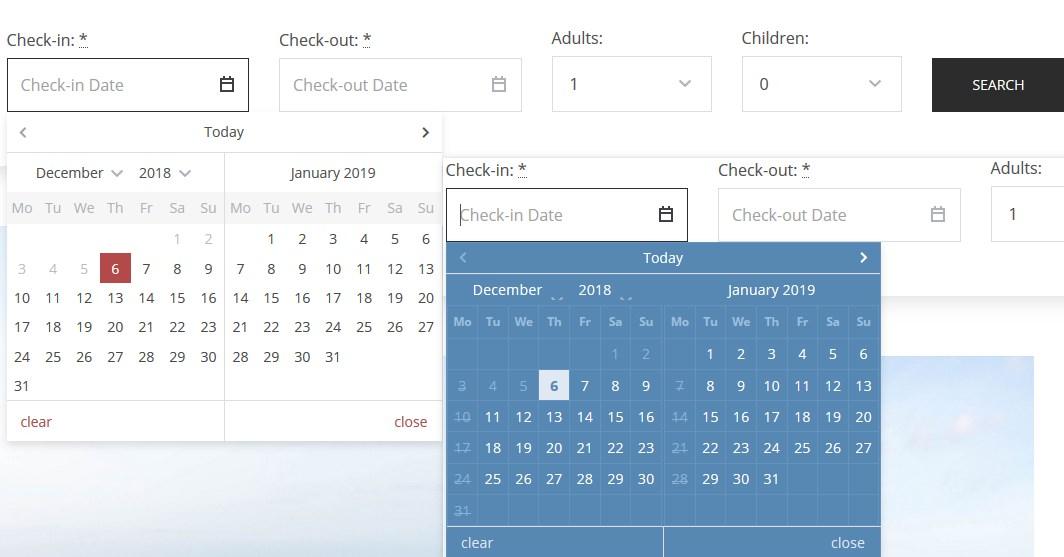 calendars hotel booking wordpress