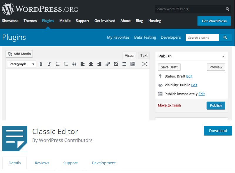 Classic-Editor-plugin-download-WordPress
