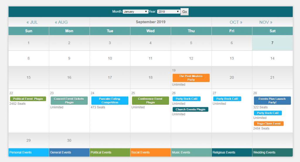 EventPlugs WordPress scheduling calendar