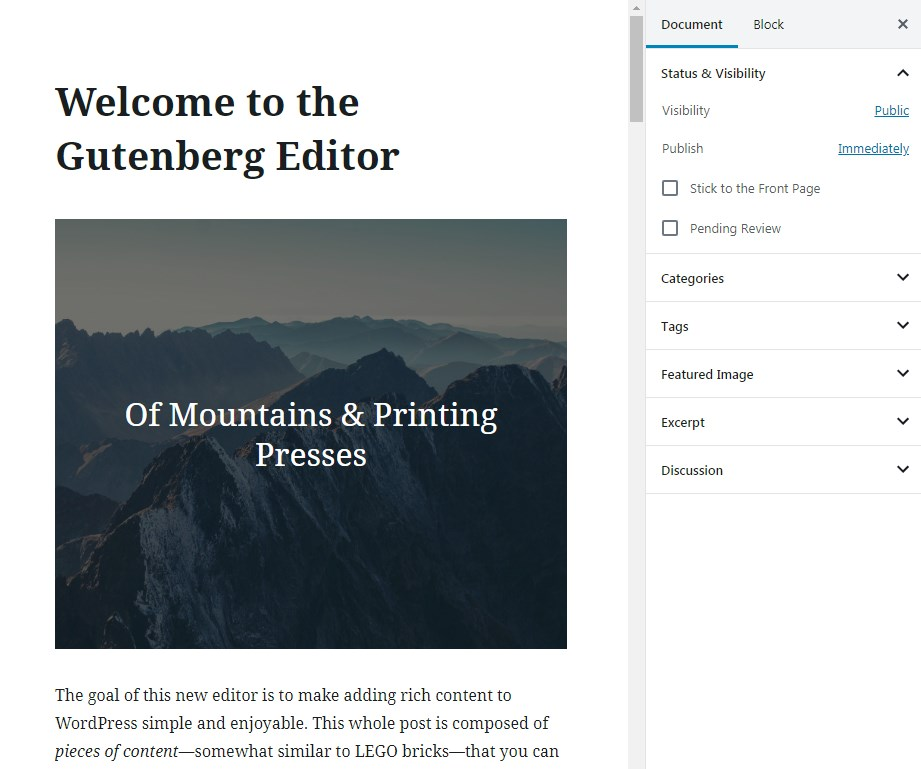 Gutenberg-default-editor-release-WordPress