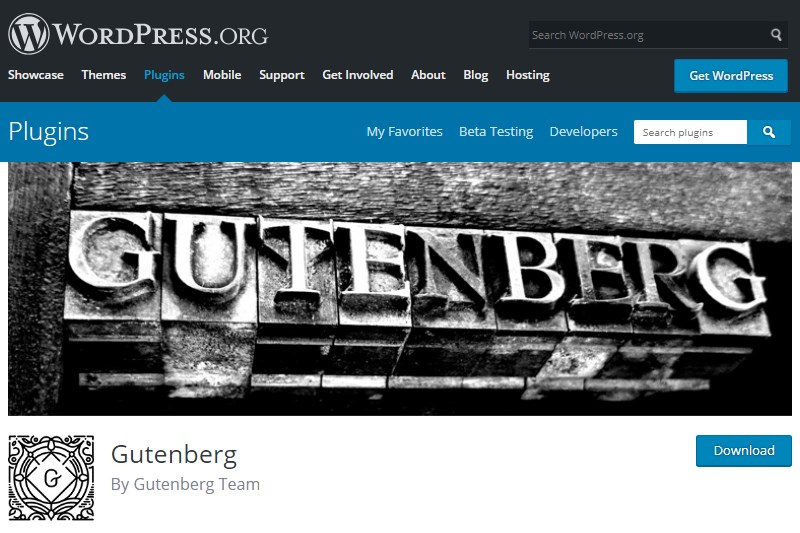 Gutenberg-plugin-download-WordPress