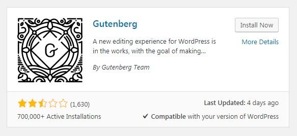 Gutenberg-plugin-WordPress-download