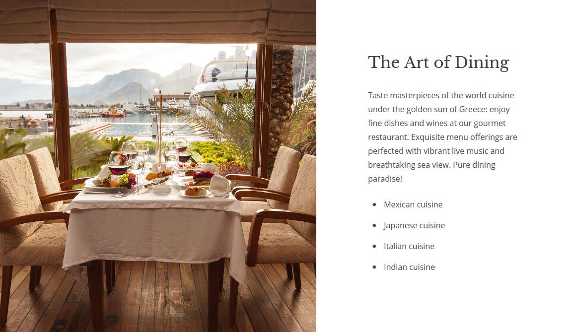 restaurant wordpress booking templates