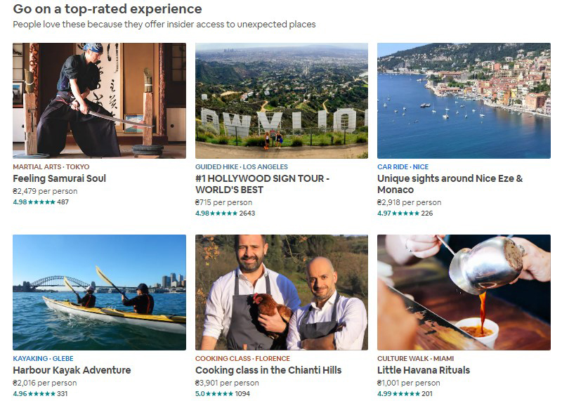 Airbnb-Experiences-list