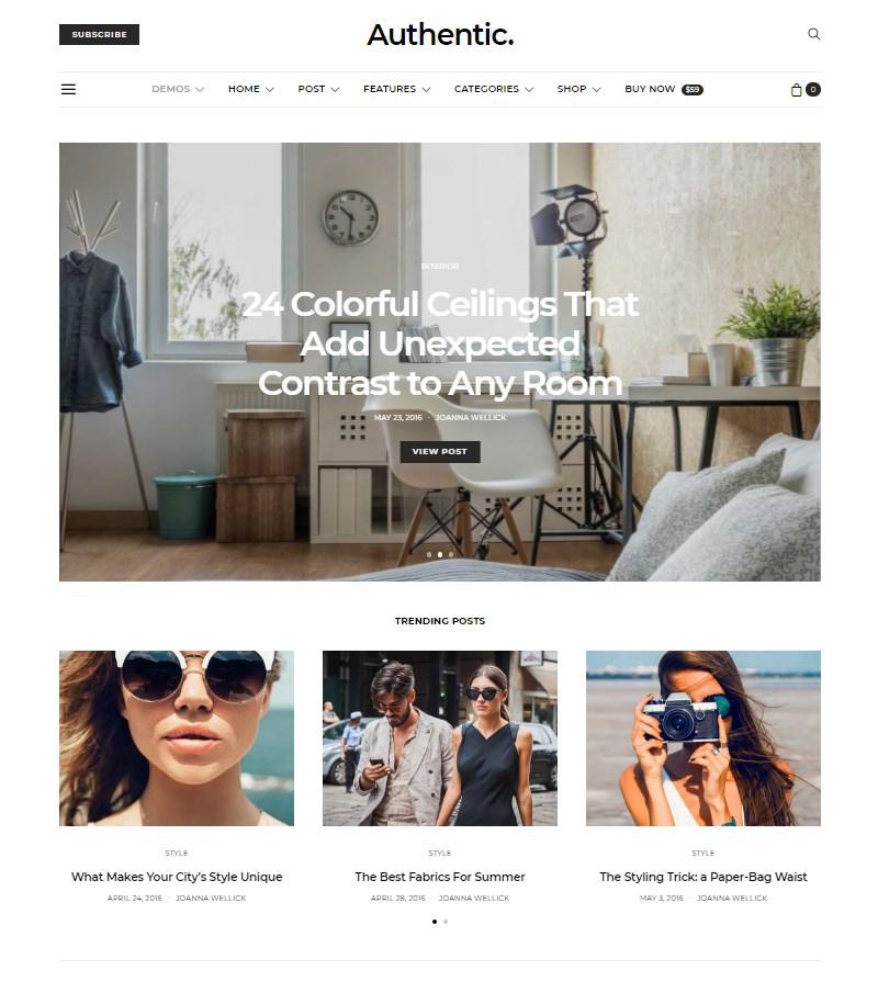 Authentic-WordPress-theme-for-blog