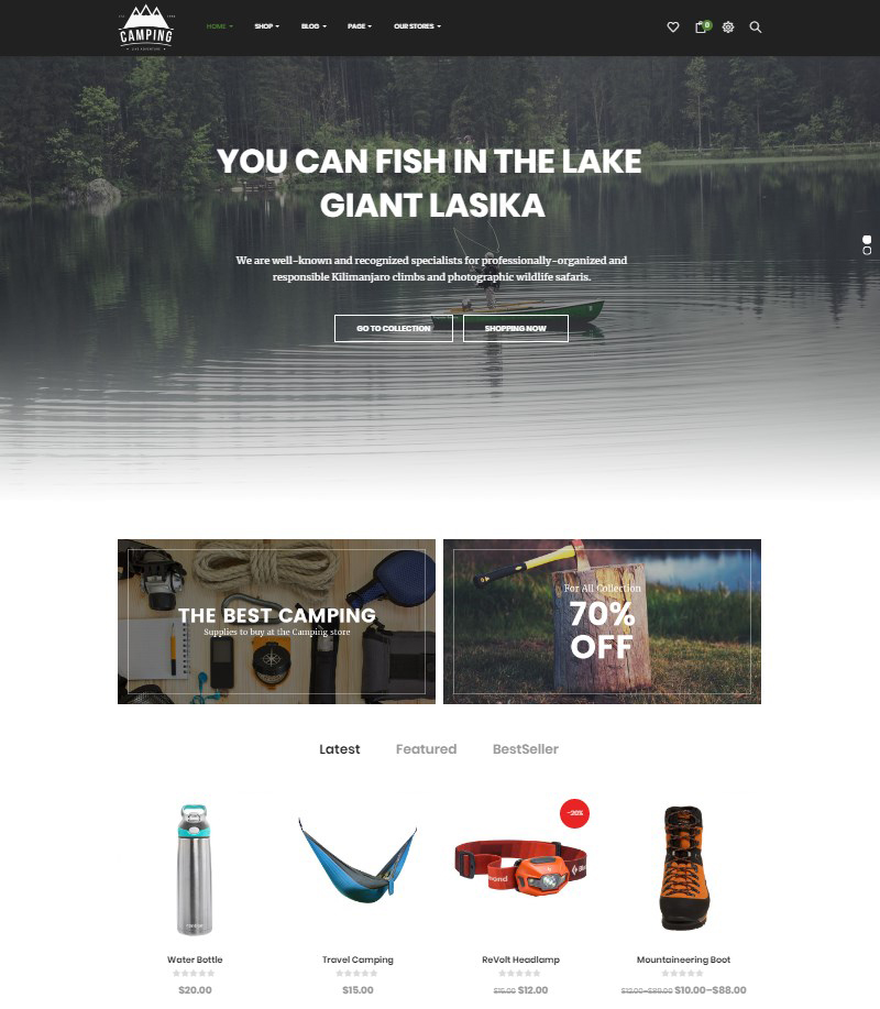 WordPress-camping-gear-store-theme