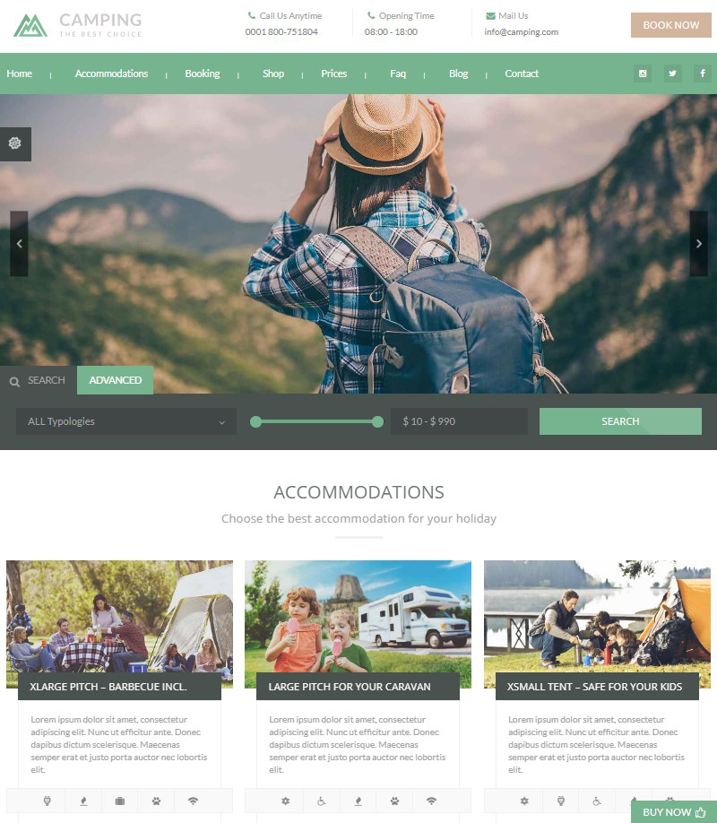 Camping-Village-camping-WordPress-theme
