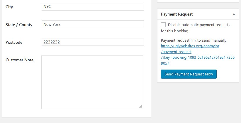 disable payment request